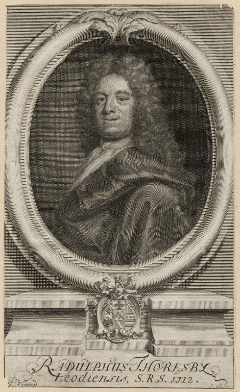 Ralph Thoresby, by George Vertue, possibly after  James Parmentier, published 1712 - NPG D6954 - © National Portrait Gallery, London