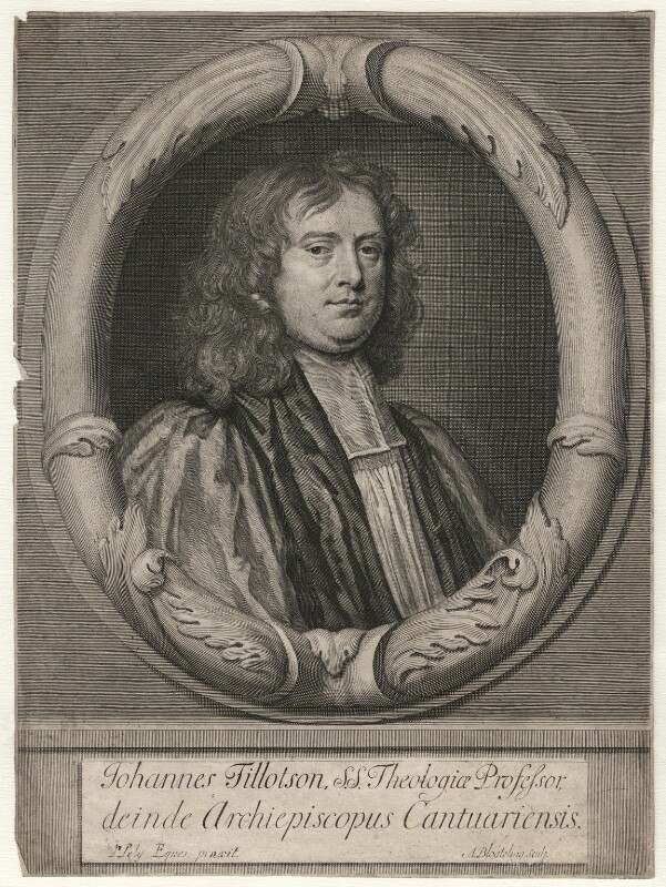 John Tillotson, by Abraham Blooteling (Bloteling), after  Sir Peter Lely, circa 1672-1690 (1672) - NPG D6959 - © National Portrait Gallery, London