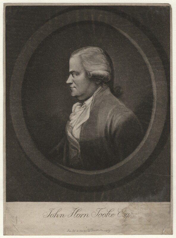 John Horne Tooke, after Unknown artist, published 1795 - NPG D6961 - © National Portrait Gallery, London