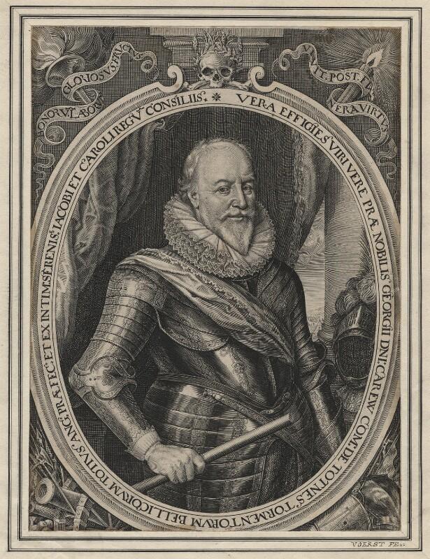 George Carew, Earl of Totnes, by Robert van Voerst, published 1633 - NPG D6967 - © National Portrait Gallery, London