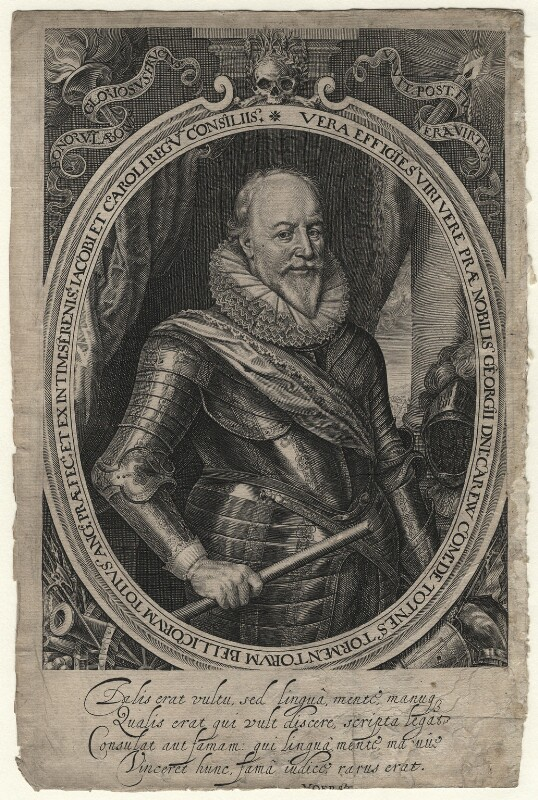 George Carew, Earl of Totnes, by Robert van Voerst, published 1633 - NPG D6968 - © National Portrait Gallery, London