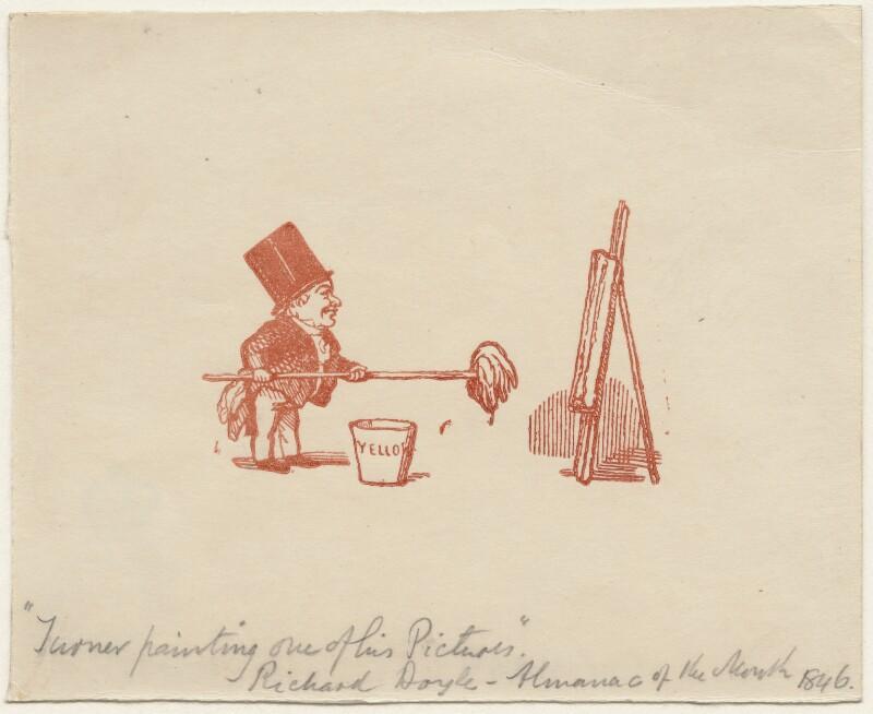 Joseph Mallord William Turner, by Richard Doyle, 1846 - NPG D6996 - © National Portrait Gallery, London