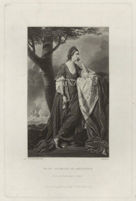 Mary (née Panton), Duchess of Ancaster, by A. Rainger, after  Sir Joshua Reynolds, published 1866 - NPG D7005 - © National Portrait Gallery, London