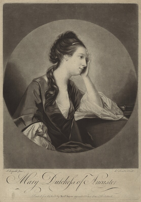 Mary (née Panton), Duchess of Ancaster, by Richard Houston, after  Sir Joshua Reynolds, (1758) - NPG D7006 - © National Portrait Gallery, London