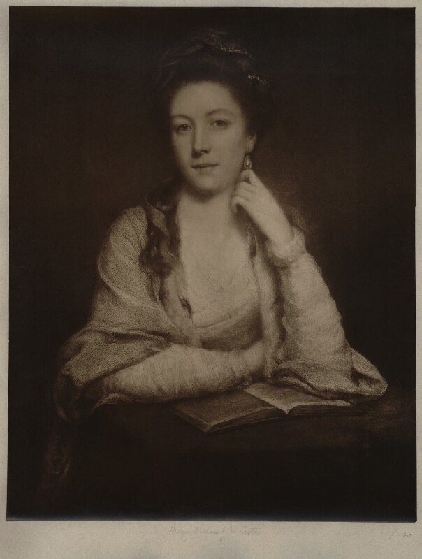 Unknown sitter inscribed Mary (née Panton), Duchess of Ancaster, after Unknown artist, early 20th century - NPG D7009 - © National Portrait Gallery, London