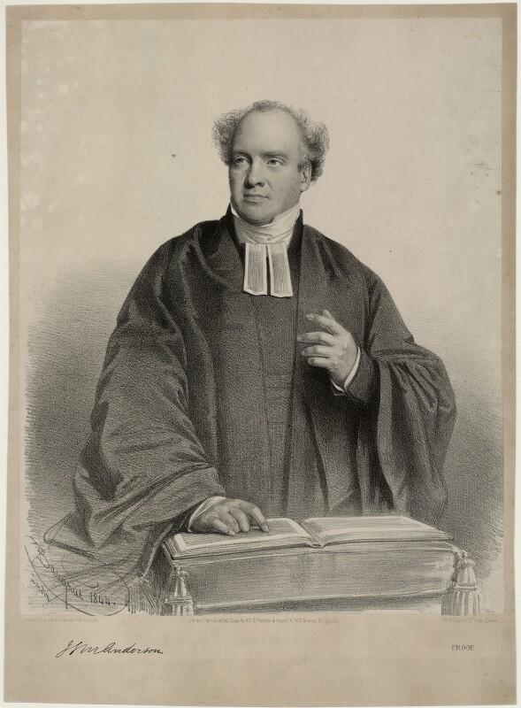 James Stuart Murray Anderson when preaching, by Charles Baugniet, 1844 - NPG D7013 - © National Portrait Gallery, London