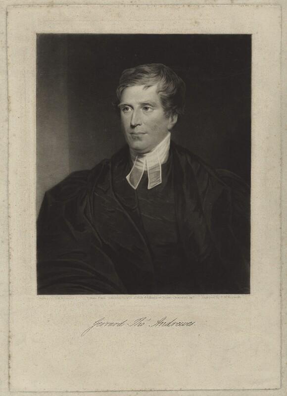 Gerrard Thomas Andrewes, by Samuel William Reynolds Jr, published 17 February 1834 - NPG D7018 - © National Portrait Gallery, London