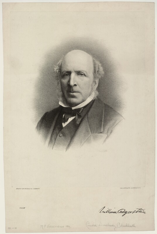 William Angerstein, by Morris & Co, after  Unknown artist, late 19th century - NPG D7021 - © National Portrait Gallery, London