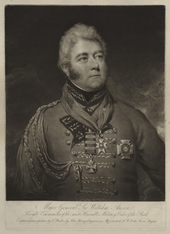 Sir William Anson, by John Young, after  Thomas Barber, early 19th century - NPG D7066 - © National Portrait Gallery, London