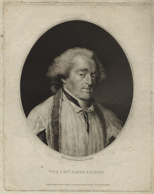 James Archer, by and published by John Murphy, published 1 August 1791 - NPG D7083 - © National Portrait Gallery, London