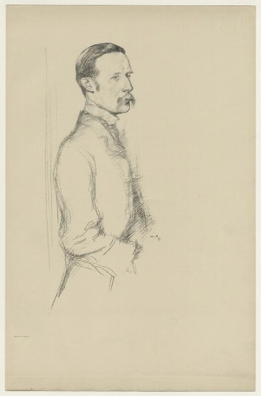 William Archer, by Sir William Rothenstein, 1897 - NPG D7084 - © National Portrait Gallery, London