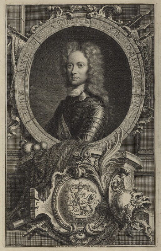 John Campbell, 2nd Duke of Argyll and Greenwich, by Jacobus Houbraken, after  William Aikman, 1735 - NPG D7094 - © National Portrait Gallery, London