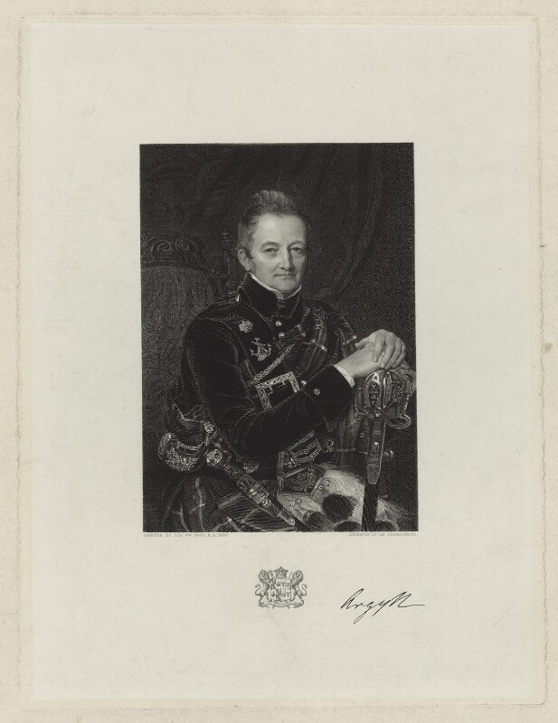 John Campbell, 7th Duke of Argyll, by James Posselwhite, after  Sir William Charles Ross, (1843) - NPG D7102 - © National Portrait Gallery, London
