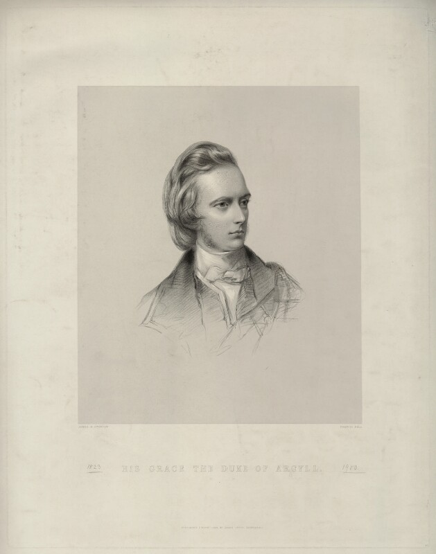 George Douglas Campbell, 8th Duke of Argyll, by Francis Holl, after  James Rannie Swinton, published 1853 - NPG D7104 - © National Portrait Gallery, London