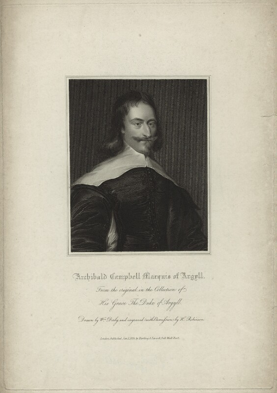 Archibald Campbell, 1st Marquess of Argyll, by John Henry Robinson, published by  Harding & Lepard, after  William Derby, published 1 January 1828 - NPG D7108 - © National Portrait Gallery, London