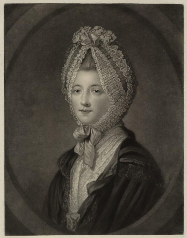 Elizabeth (née Gunning), Baroness Hamilton of Hameldon, by John Finlayson, after  Katharine Read, published 1770 - NPG D7117 - © National Portrait Gallery, London