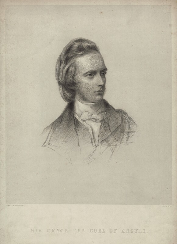 George Douglas Campbell, 8th Duke of Argyll, by Francis Holl, after  James Rannie Swinton, published 1853 - NPG D7123 - © National Portrait Gallery, London