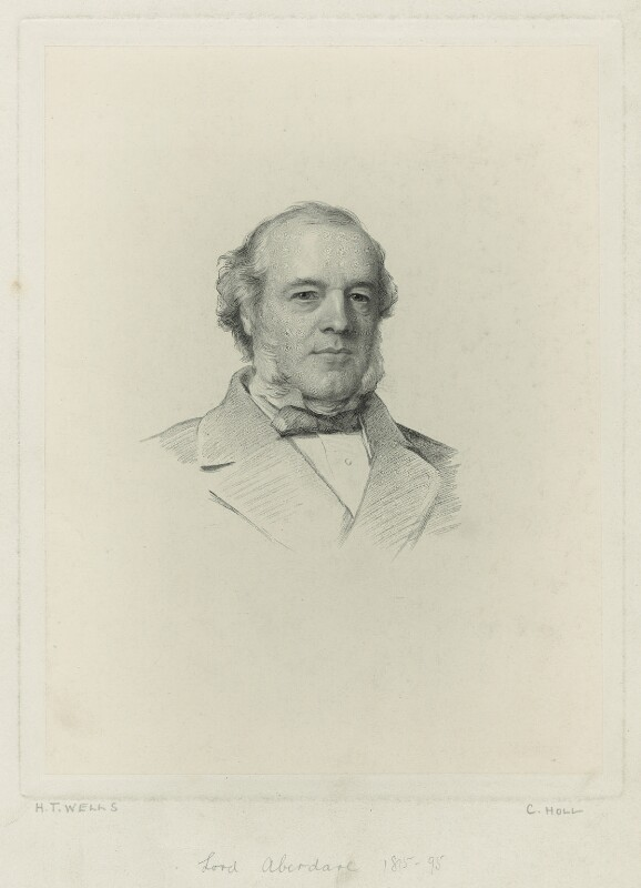 Henry Austin Bruce, 1st Baron Aberdare, by Charles Holl, after  Henry Tanworth Wells, 1868 or after - NPG D7132 - © National Portrait Gallery, London