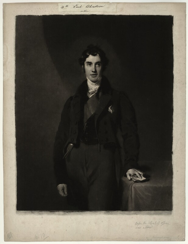 George Hamilton Gordon, 4th Earl of Aberdeen, by Samuel Cousins, after  Sir Thomas Lawrence, published 1831 - NPG D7135 - © National Portrait Gallery, London