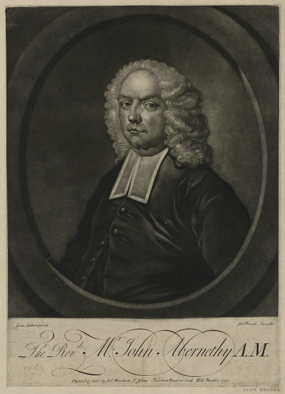 John Abernethy, by and published by John Brooks, after  James Latham, published 1741 - NPG D7141 - © National Portrait Gallery, London