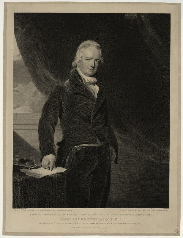 John Abernethy, by William Bromley, after  Sir Thomas Lawrence, published 1827 - NPG D7145 - © National Portrait Gallery, London