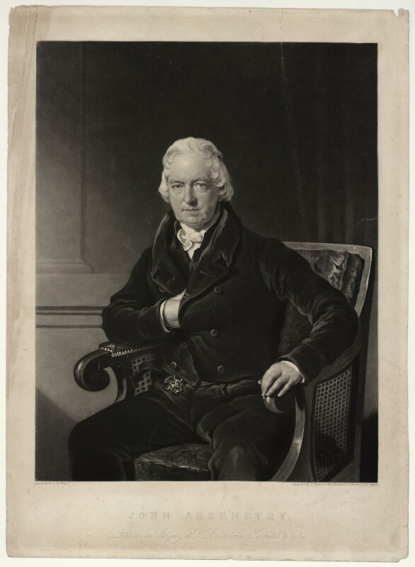 John Abernethy, by Charles Turner, after  Charles William Pegler, published 1828 - NPG D7147 - © National Portrait Gallery, London