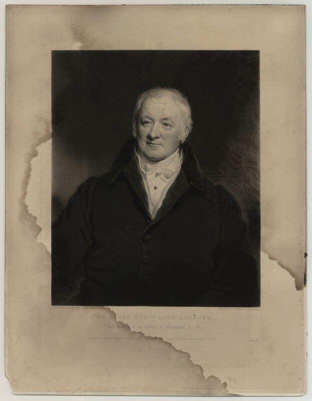 James Scarlett, 1st Baron Abinger, by Henry Cousins, published by  William Walker, after  Sir Martin Archer Shee, published March 1837 - NPG D7148 - © National Portrait Gallery, London