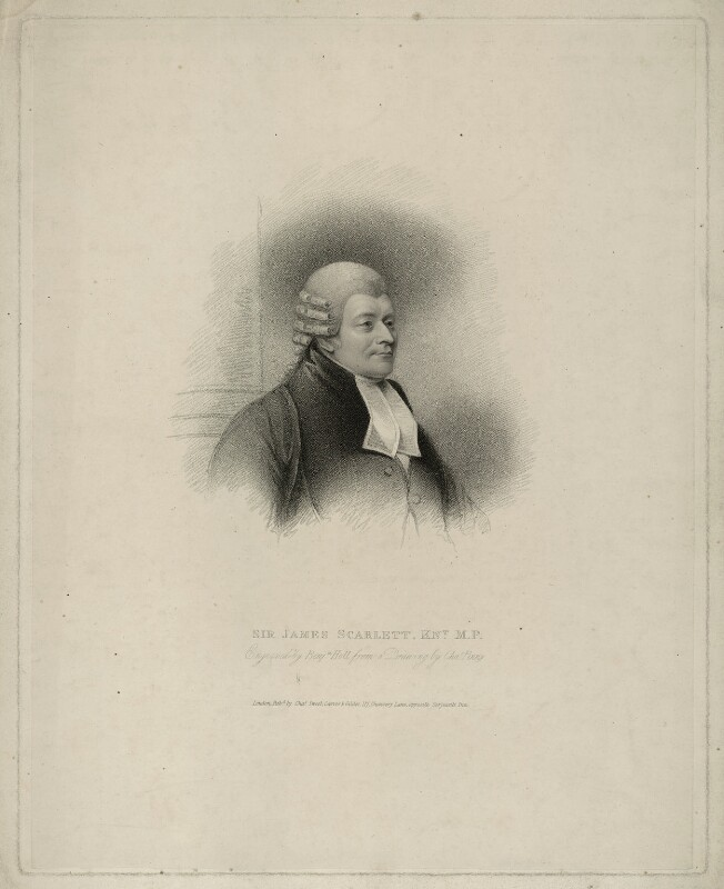 James Scarlett, 1st Baron Abinger, by Benjamin Holl, published by  Charles Sweet, after  Charles Penny, published 25 November 1824 - NPG D7149 - © National Portrait Gallery, London