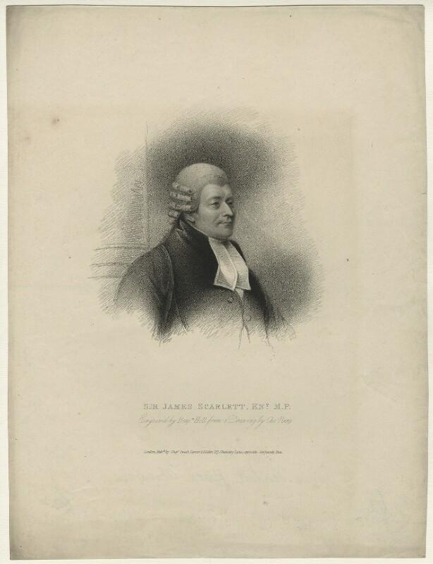 James Scarlett, 1st Baron Abinger, by Benjamin Holl, published by  Charles Sweet, after  Charles Penny, published 25 November 1824 - NPG D7150 - © National Portrait Gallery, London