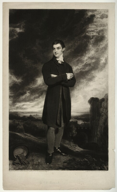 Sir Thomas Dyke Acland, 10th Bt, by Samuel William Reynolds, after  William Owen, (1819) - NPG D7156 - © National Portrait Gallery, London