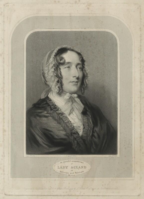 Lydia Elizabeth (née Hoare), Lady Acland, by Samuel Cousins, after  Joseph Severn, 1863 (1848) - NPG D7160 - © National Portrait Gallery, London