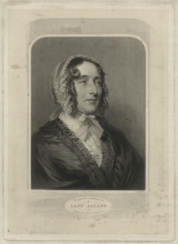 Lydia Elizabeth (née Hoare), Lady Acland, by Samuel Cousins, after  Joseph Severn, 1863 (1848) - NPG D7161 - © National Portrait Gallery, London