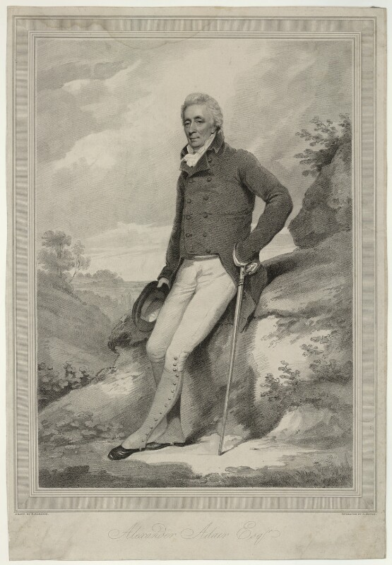 Alexander Adair, by Henry Meyer, after  Henry Edridge, early 19th century - NPG D7164 - © National Portrait Gallery, London