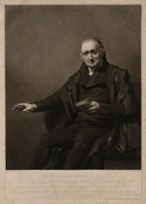 Alexander Adam, by Charles Turner, after  Sir Henry Raeburn, published 1808 - NPG D7166 - © National Portrait Gallery, London