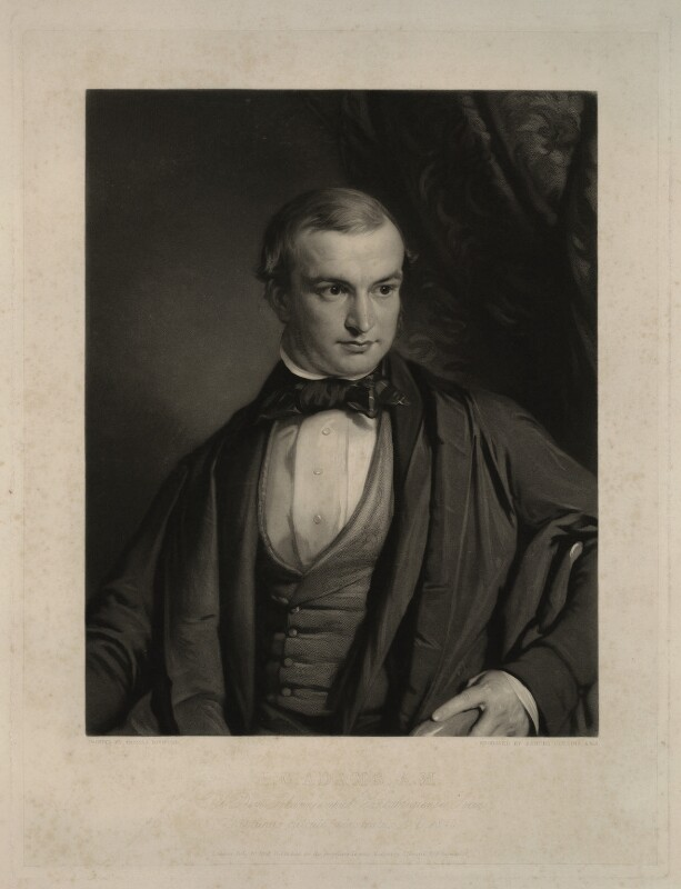 John Couch Adams, by Samuel Cousins, after  Thomas Mogford, published 1851 - NPG D7168 - © National Portrait Gallery, London