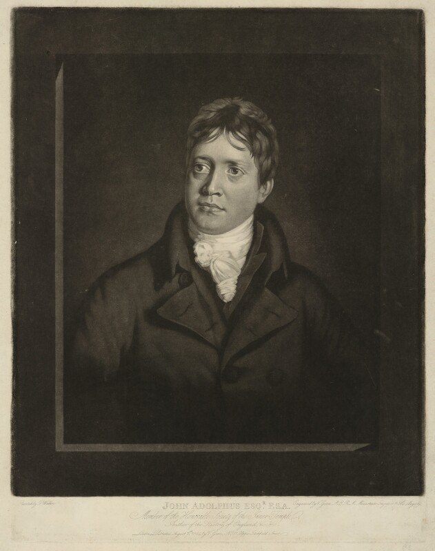 John Adolphus, by Valentine Green, after  T. Walker, published 1804 - NPG D7176 - © National Portrait Gallery, London