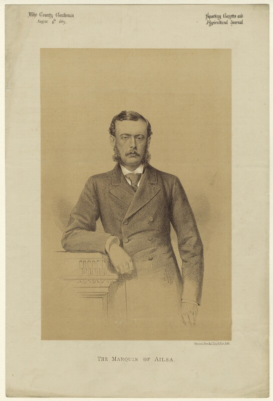 Archibald Kennedy, 3rd Marquess of Ailsa, by Vincent Brooks, published 1883 - NPG D7180 - © National Portrait Gallery, London