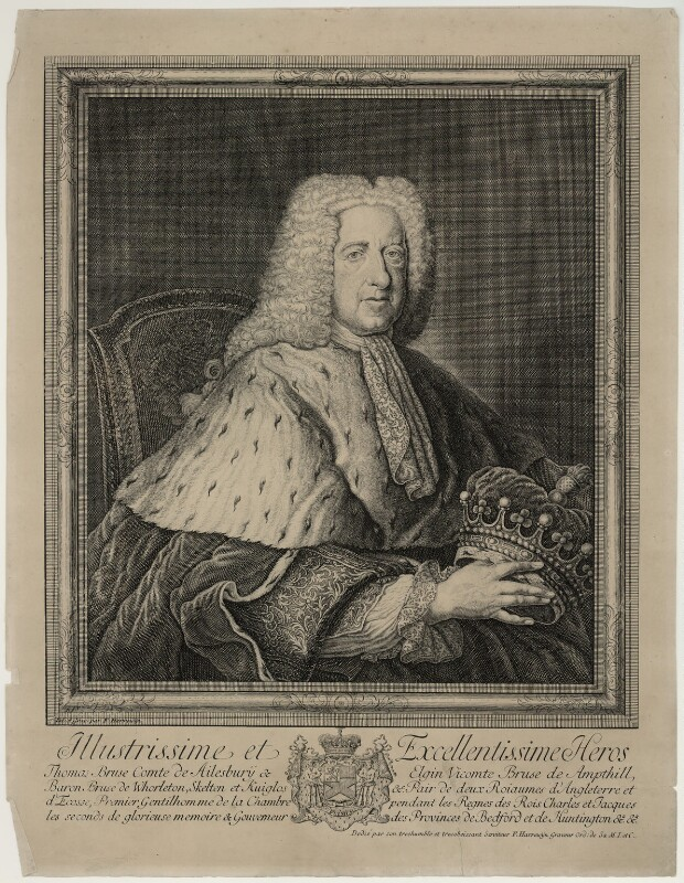 Thomas Bruce, 2nd Earl of Ailesbury, by François Harrewijn, probably 1730s - NPG D7182 - © National Portrait Gallery, London