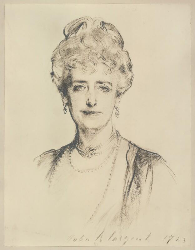 Mabell Frances Elizabeth (née Gore), Countess of Airlie, after John Singer Sargent, (1923) - NPG D7185 - © National Portrait Gallery, London