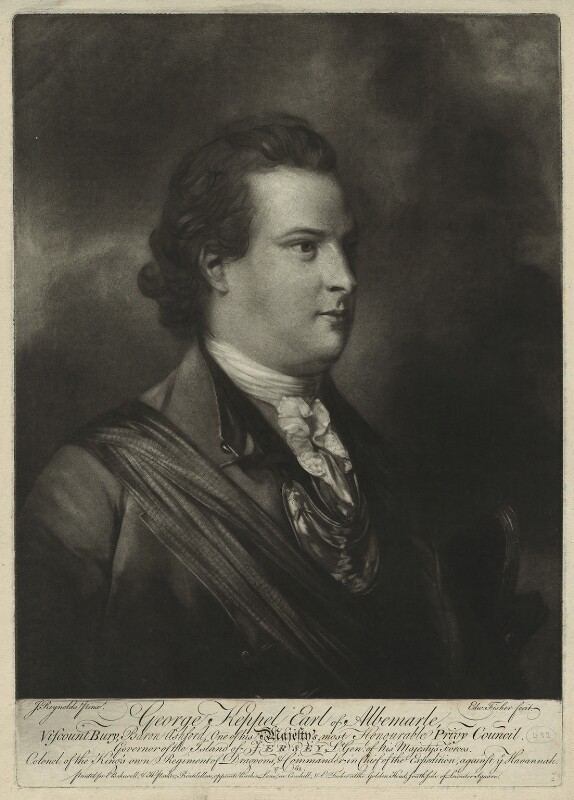 George Keppel, 3rd Earl of Albemarle, by Edward Fisher, after  Sir Joshua Reynolds, published 1762? - NPG D7197 - © National Portrait Gallery, London
