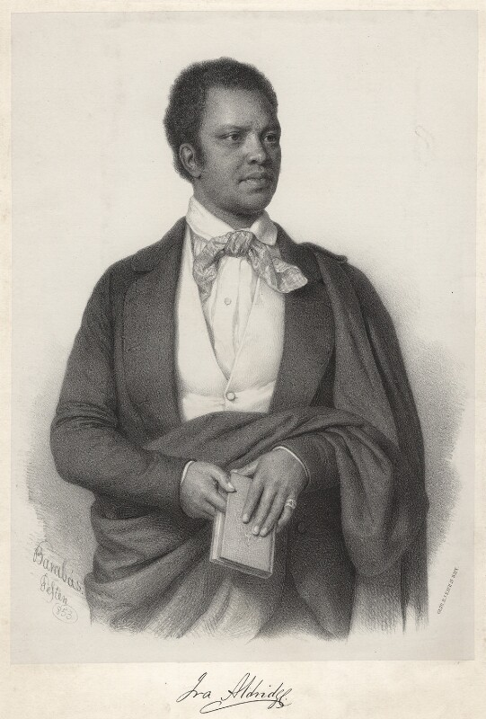 Ira Frederick Aldridge, by Nicolas Barabas, 1853 - NPG D7311 - © National Portrait Gallery, London
