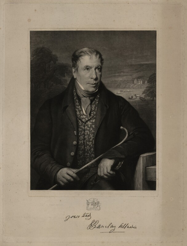 Robert Barclay Allardice, by Robert Moore Hodgetts, after  James William Giles, published 1843 - NPG D7329 - © National Portrait Gallery, London