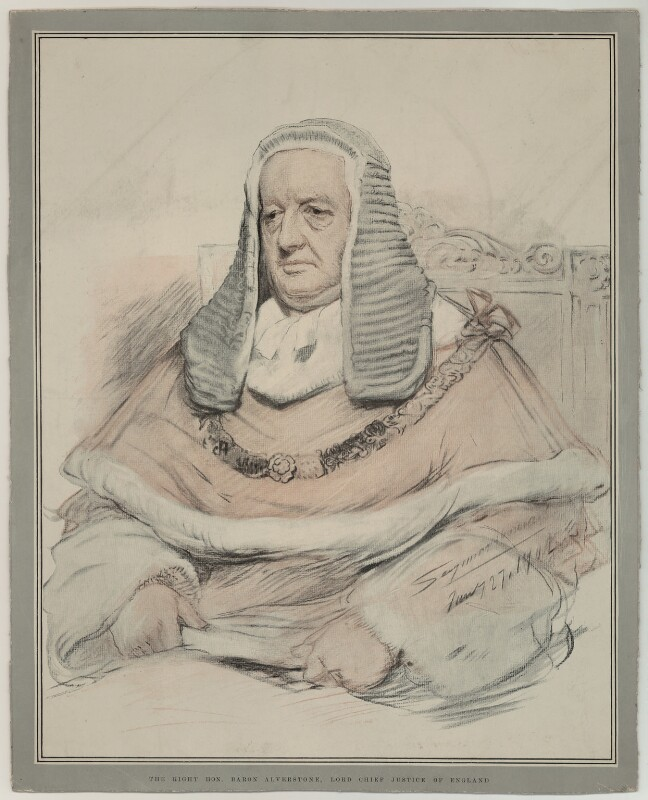 Richard Everard Webster, Viscount Alverstone, published by The Graphic, after  John Seymour Lucas, published 21 June 1902 - NPG D7347 - © National Portrait Gallery, London