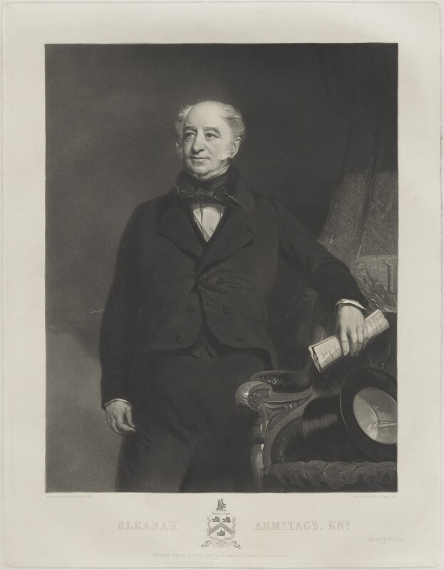 Sir Elkanah Armitage, by Samuel Bellin, published by  Philip Westcott, after  Thomas Agnew & Sons Ltd, published 1 January 1855 - NPG D7356 - © National Portrait Gallery, London