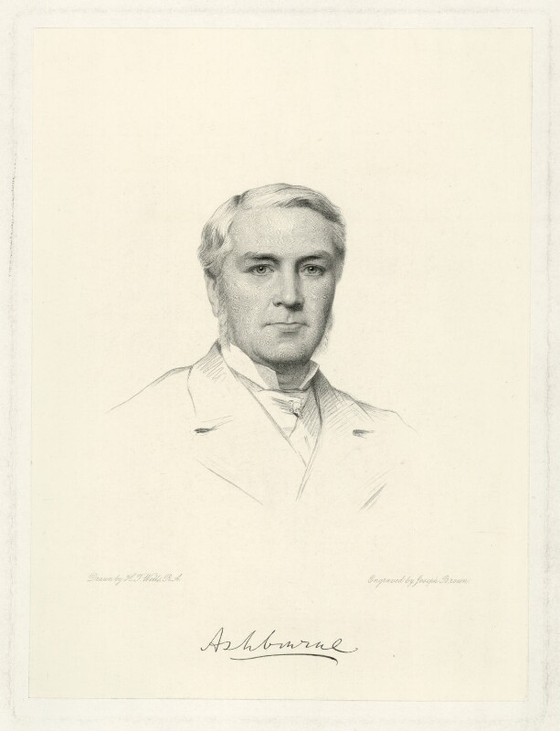 Edward Gibson, 1st Baron Ashbourne, by Joseph Brown, after  Henry Tanworth Wells, 1886 - NPG D7389 - © National Portrait Gallery, London