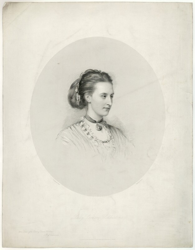 Leonora Caroline Baring (née Digby), Lady Ashburton, by Francis Holl, published 1870 - NPG D7397 - © National Portrait Gallery, London