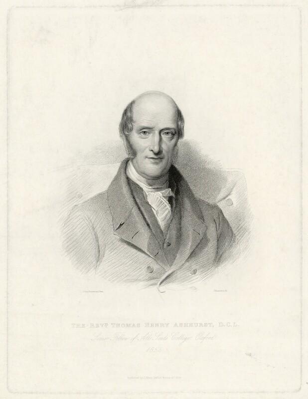 Thomas Henry Ashhurst, by James Posselwhite, after  Julian Drummond, 1854 - NPG D7399 - © National Portrait Gallery, London