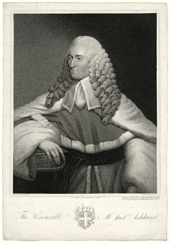 Sir William Henry Ashhurst, by John Jones, after  John Plott, published 1819 - NPG D7402 - © National Portrait Gallery, London