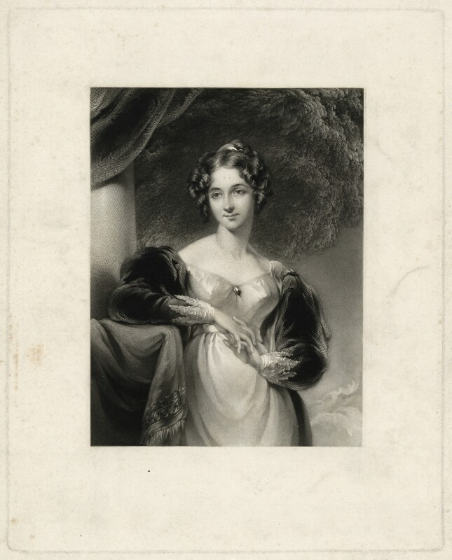 Maria Anne Ashley (née Baillie), by George Henry Phillips, after  Sir Thomas Lawrence, published 1842 - NPG D7405 - © National Portrait Gallery, London