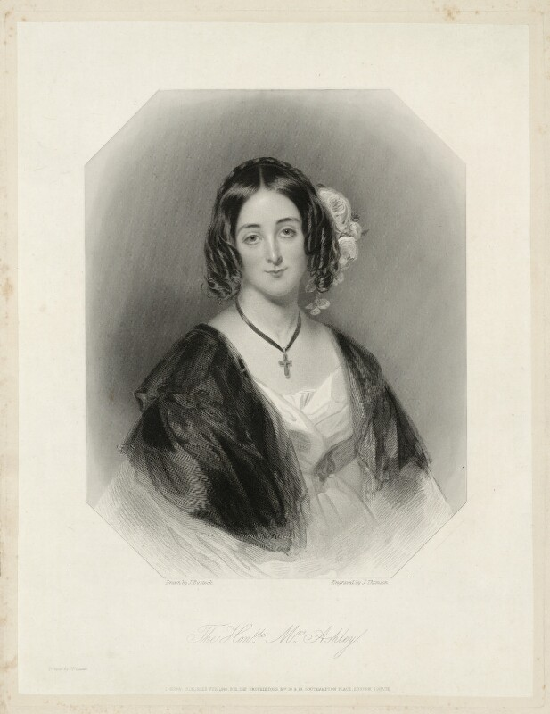 Maria Anne Ashley (née Baillie), by James Thomson (Thompson), after  John Bostock, published 1840 - NPG D7406 - © National Portrait Gallery, London